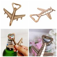 Airplane Shape Beer Bottle Opener Antique Wedding Kitchen Pa...
