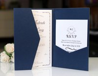 Blank tri- fold invitation envleop solid pocket invitation sh...
