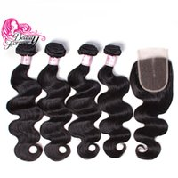 Beauty Forever 8A Virgin Brazilian Body Wave Bundles with Cl...