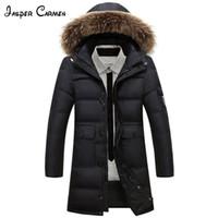 Ücretsiz kargo 2017 erkek kış yeni moda uzun aşağı giymek kalın pamuk yastıklı ceket orta yaş ve genç sıcak giydirin cxy200