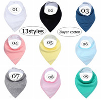 INS NEw Solid color 2layer 100% Cotton Baby Bandana Drool Bi...