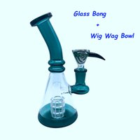Glass Beaker Bongs With Free Glass Wig Wag Bowl 7. 5 Inch 14m...