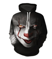 Men Women Sweatshirts Couple Hoodies Clown Back Series 3D Pr...