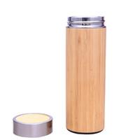 Thermos Bottiglia di acqua in acciaio inox Bamboo Shell Hot Water Tea Infusore Thermos Travel Mug Bottiglia isolata tazza