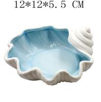 Akdeniz seramik denizyıldızı kabuk conch küllük şeker takı depolama plaka ev dekor porselen heykelcik düğün dekorasyon