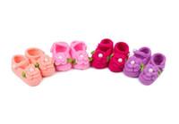 Não escorregar sola macia floral crochet sapatos de bebê menino infantil menina bebê primeiros caminhantes frete grátis