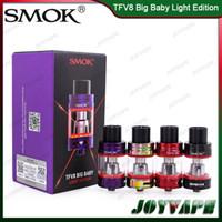 Otantik SMOK TFV8 Büyük Bebek Işık Baskısı Tankı 5 ML TFV8 Büyük Bebek Atomizer Değiştirilebilir LED Işık Ile Güncellenmiş Taban 100% Orjinal