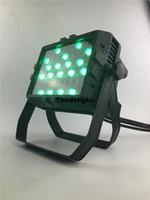 4 조각 LED 54x3w rgbw 방수 동등 빛 결혼식 IP65 벽 세탁기 도시 색 결혼식 및 파티