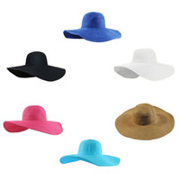 03213aeca3a Proteger Travel Beach Cap Wide Brim Floppy Niños Verano UV Straw Sun Hat  Playa Mujeres