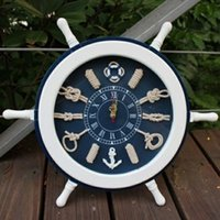 Fashion personality solid wood wall clock a sailor knot wall...