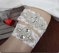 Sparky Crystal Bridal Garters Bruiloft Garters Echte Picture Handgemaakte Kant Bruiloft Been Garters Goedkoop in voorraad