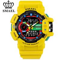 SMAEL 30M Su geçirmez Erkek Spor İzle S-Şok Askeri Saatler LED Kuvars Çift Ekran Açık Erkekler saatı Reloj Hombre