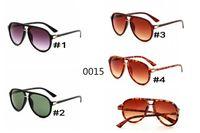 2018 Nova Marca Itália clássico marca 0015 óculos de sol mulher abelha projeto moda óculos de sol boa qualidade homem condução óculos de sol MOQ = 10