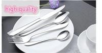 Щепка из нержавеющей стали столовые приборы наборы ужин нож вилка ложка набор 4-х частей место установка обслуживание посуда наборы