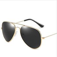 55mm Pilot Polarize G15 Sunglass Vintage Gölge Lens güneş gözlükleri Metal Retro erkek Kadın Moda Güneş Gözlüğü