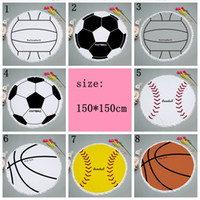 8 Styles 150cm Football Tapestry Beach Towel Round Tableclot...