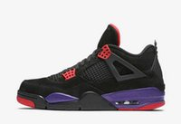 TOP Factory Version 4 Black Red Purple Basketball Shoes mens...