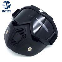 Новые модульные маски съемные очки и рот фильтр идеально подходит для открытого лица мотоцикла половина шлем или старинные шлемы