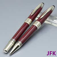 High quality JFK Wine red metal ballpoint pen   roller ball ...