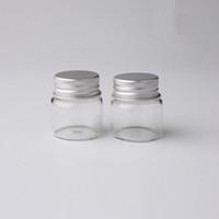 Bottiglie di vetro trasparente messaggio che desiderano bottiglie di trucco cosmetico Bottiglie di esempio vaso oli essenziali fiala Contenitore Con Tappo A Vite In Alluminio (20 ml)