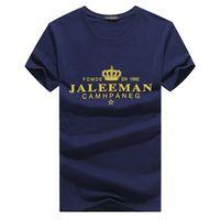 Artı Boyutu 4xl 5xl Tasarımcı Tshirt Erkekler Mektup Baskı Taç Yaz Üstleri O Boyun Moda Rahat Büyük Pamuk Tees
