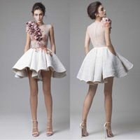 2018 Krikor Jabotian Short Cocktail Dresses Striking Ruffles...