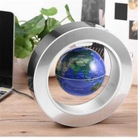 4 Inch LED World Map Novelty Magnetic Levitation Floating Gl...