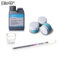 Elite99 6 peças / set Acrílico LiquidPowder Kit Manicure Conjunto de Ferramentas Rosa Branco Claro Transparente Cristal Em Pó Escova Ferramenta Da Arte Do Prego