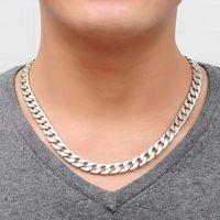 Новый бренд прохладный мужчины ожерелье сплава серебра ювелирные изделия старинные цепи подлинная твердый сплав толстые цепи Оптовая мужчины ювелирные изделия