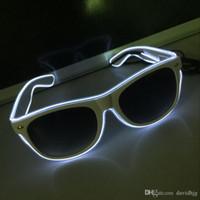 Fio EL Piscando New Fashion Led Óculos Luminosos Partido Iluminação Decorativa Presente Clássico Festival de Luz Brilhante macka