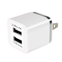 Colorido 2A + 1A EE. UU. Enchufe Adaptador de corriente CA Hogar Trave Wall 2 puertos cargador USB dual para iPhone 4 5 6 plus para Samsung HTC 100pcs / lot