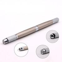 ثلاثة رئيس الوشم دليل القلم للحاجب الدائم ماكياج القلم microblading القلم مع شحن مجاني