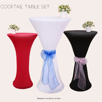 2019 renk Elastik Masa Örtüsü custom made bar Süslemeleri kokteyl bez Ücretsiz Kargo restoran masa ucuz düğün parti dekorasyon