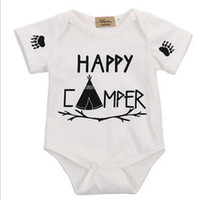 Baby Romper Letters Printed Bronzing Summer Pure Cotton Jump...