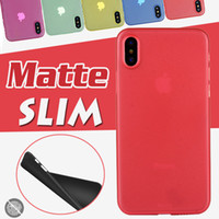 0.3mm Ultra Slim Fosco Fosco Colorido Transparente Claro Suave PP Capa case para iphone xs max xr x 8 plus 7 6 6 s samsung galaxy s9 s8 nota