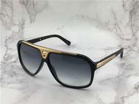 데 lunettes 드 솔레 망 선글라스 상자 안경 새로운 증거 선글라스 Z0350W 블랙 골드 / 회색 음영 Sonnenbrile