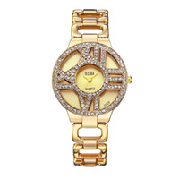 Ladies fashion watch Hollow diamond watches luxury brand Wom...