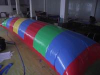 شحن مجاني 8x3 متر نفخ المياه فقاعة الماء الترامبولين كذاب الوسائد العائمة سرير نفخ القفز وسادة إرسال مضخة كهربائية