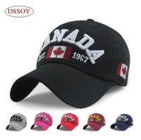 Dad Hats Canada Embroidery Adjustable Strapback For Adults M...