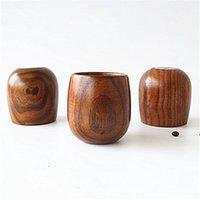 2018 de grado superior 5 oz copas de vino de madera maciza natural taza de té de madera taza de vino 150 ml de madera tazas de café por DHL envío gratis