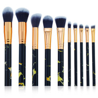 10 Pcs Marble Makeup Brush Set Professional Face Eye Shadow ...