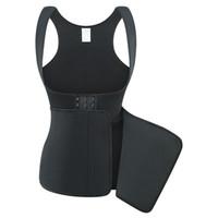 Vücut Şekillendirici Kadın Göbek Kontrol Zayıflama Korse Underbust Sauna Yelek Siyah Çift Katmanlı Neopren Shapewear Bel Eğitmen ...