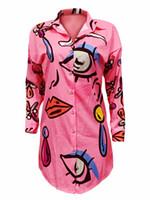새로운 패션 섹시한 인쇄 캐주얼 느슨한 미니 드레스 여성 여름 화이트 파티 클럽 드레스 크기 S-XL