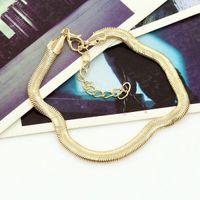 Новый серебряный / позолоченный змея цепи щиколотке браслет летний пляж ног ювелирные изделия аксессуары для женщин и девочек