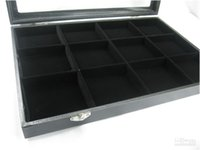 ساعة الجيب PACKET WATCH JEWELRY GLASS DISPLAY CASE BOX 12 مقصورة