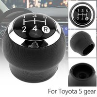 5 Speed ABS Plastic + PU Leather Manual Transmission Gear Sh...