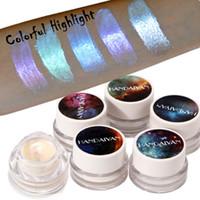 HANDAIYAN العلامة التجارية 5 ألوان لامع تمييز الوجه سطع مستحضرات التجميل أبيض أزرق اللون ماء كونتور تسليط الضوء على ماكياج شحن مجاني