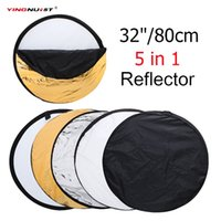 "32"" 80cm Portable Round Photography Reflector 5 in 1 Co..."