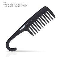 Brainbow 1 adet Plastik Saç Fırçası Geniş Diş Tarak ile Askı Anti-Statik Düz Geniş Tarak Düz Dalgalı Saç Bakımı Şekillendirici Aracı