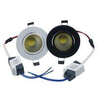 Edison2011 9 와트 LED COB LED 최근 천장 통 스포트 램프 화이트 / 따뜻한 화이트 디 밍이 가능한 램프 AC 85-265V LED 패널 빛 무료 배송